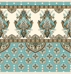 seamless border with decorative ethnic vector image