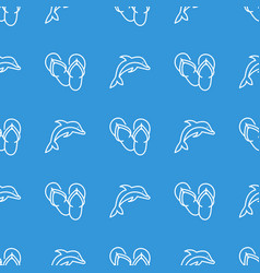 seamless pattern with dolphins vector image
