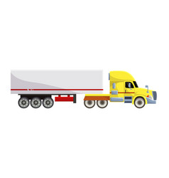 semi trailer truck vehicle transport vector image