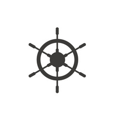 ship wheel logo icon design template vector image
