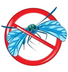 Sign prohibition insect vector