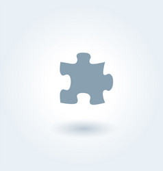 single grey puzzle piece 1 vector image