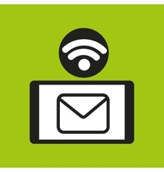 Smartphone email internet wifi icon vector