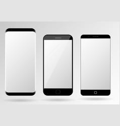 Smartphone mockup blank mobile phone template vector