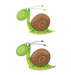 Snail funny vector