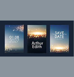 soft bokeh with light flyer design template set vector image