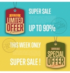 Special and limited offer isolated sale sticker vector image