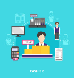 Store cashier round composition vector