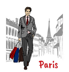 Street of paris vector