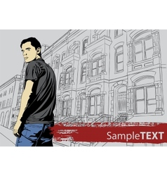 Stylish young guy vector image