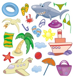 Summer and travel set vector image vector image