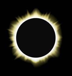 sun solar eclipse vector image