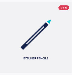 Two color eyeliner pencils icon from fashion vector