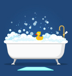 vntage bath and soap foam bubbles vector image