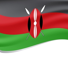 Waving flag of Kenya isolated on white vector image