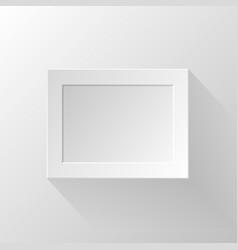 White paper frame vector image