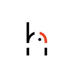 wifi emblem letter h wifi logo h letter emblem vector image