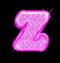 Z letter pink bling girly vector