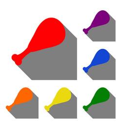 chicken leg sign set of red orange yellow vector image