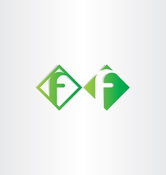 green letter f icons design vector image vector image