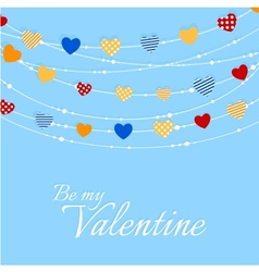 Valentine background with joyful heart bunting vector image