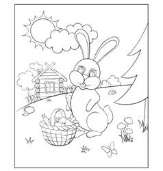 Coloring for kids vector image vector image