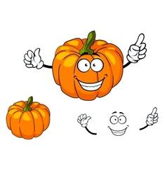 Happy colorful orange cartoon pumpkin vector image vector image
