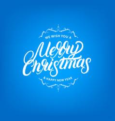 merry christmas elegant hand lettering design vector image vector image