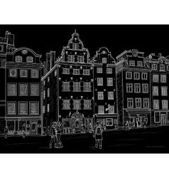 Sketch Stortorget in Stockholm vector image vector image