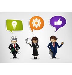 Business teamwork cartoon people vector image