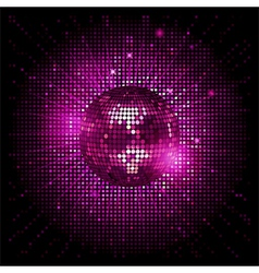 disco ball pink party background ai vector image vector image