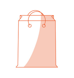 orange shading silhouette cartoon bag for shopping vector image vector image