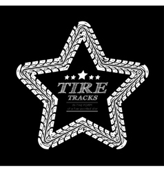 Tire tracks frame vector image