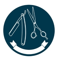 Barber shop logo template vector image vector image