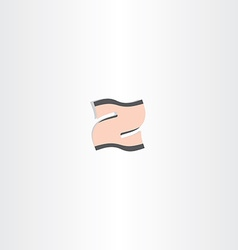 icon letter z stylized abstract design vector image vector image