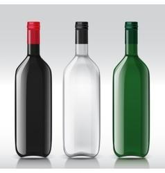 Realistic sample glass bottles empty transparent vector image