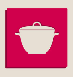 saucepan simple sign grayscale version of vector image vector image