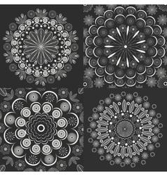 Set circular ornaments vintage style vector image vector image