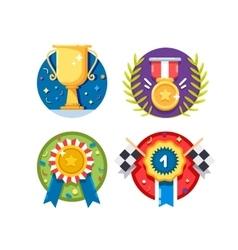 Set of rewards icons vector image