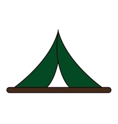 single tent icon vector image