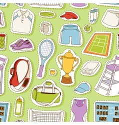 Tennis seamless pattern vector image vector image