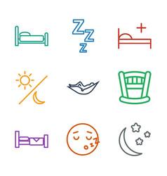 9 sleep icons vector