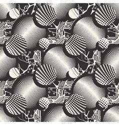 Abstract mushrooms ornament vector