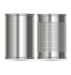 Aluminum cans in two different designs vector