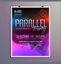 amazing modern music party flyer brochure template vector image