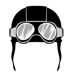 Aviation helmet vector