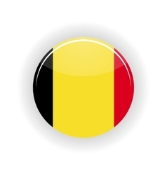 Belgium icon circle vector image