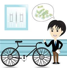 Bicycle Salesman vector image
