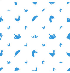 Bird icons pattern seamless white background vector