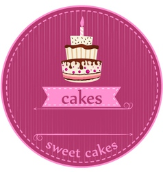 Birthday cakes card vector